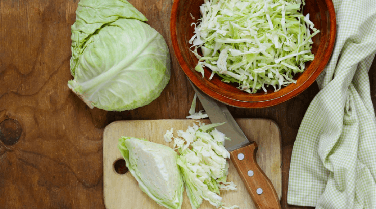 Green cabbage on keto