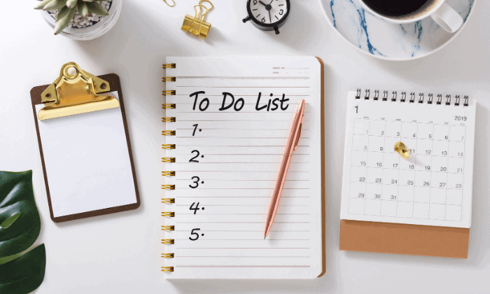 how to think straight Keep a to-do list