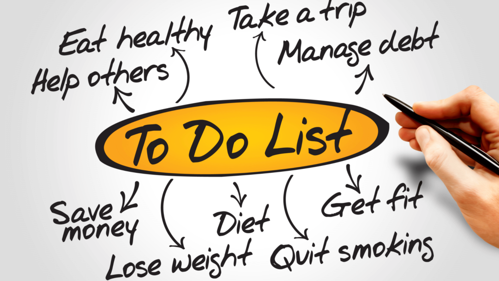 Create a List of Usual Everyday Tasks