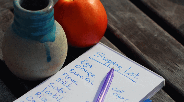 Make Your Grocery List in Advance