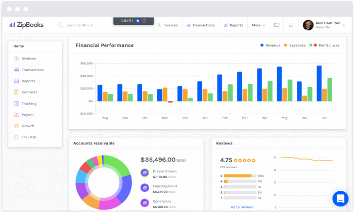 ZipBooks: Excellent for Professional Accounting Best Accounting Software for Freelancers