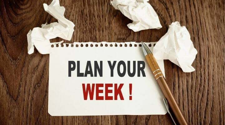 Divide Your Work into Separate Weeks