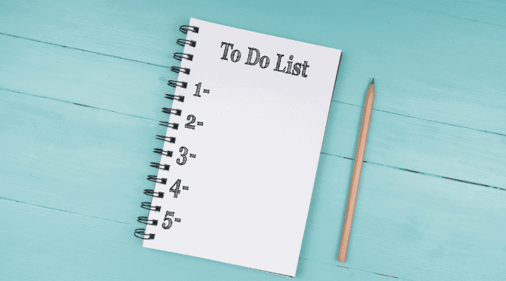 Make Your To-Do List To Stay on Track