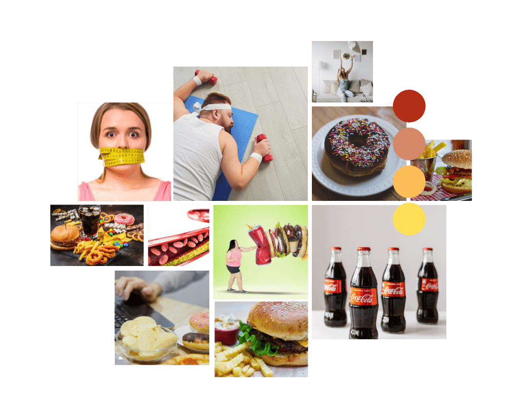 Unhealthy Diet Laziness or Depression
